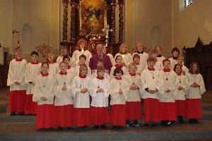 Neue Messdiener und Messdienerinnen an der Liebfrauenkirche
