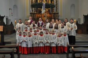 Feierliche Messdieneraufnahme in der Pfarrei Liebfrauen