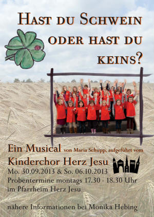 Kinderchor Herz-Jesu mit dem Musical: HAST DU SCHWEIN ODER HAST DU KEINS? zu Gast im Käthe-Kollwitz-Haus