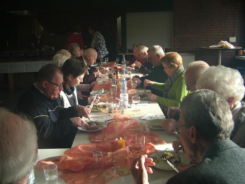 Lohscheller Bocholt generalversammlung des kirchenchores herz jesu mit anschließendem grünkohl essen pfarrei
