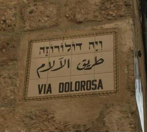 Die Israel-Pilger auf der Via Dolorosa