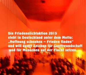 """""""Hoffnung schenken - Frieden finden""""  Friedenslichtaktion zum 4. Advent"""