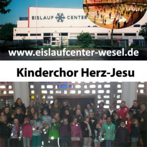 Kinderchor Herz-Jesu fährt zur Eissporthalle, Wesel