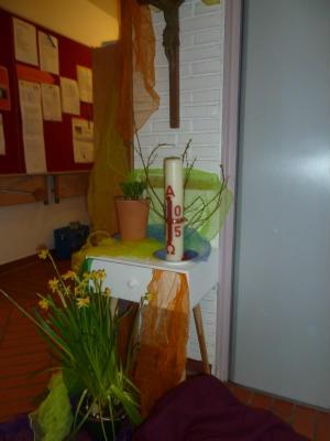 Wortgottesdienst zum Frühling in der Kita Hl. Kreuz
