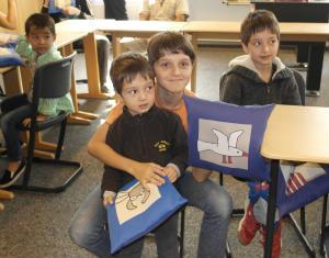 Kissen für Flüchtlingskinder
