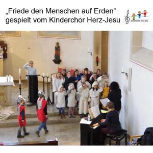 """""""Friede den Menschen auf Erden"""" gespielt vom Kinderchor Herz-Jesu"""