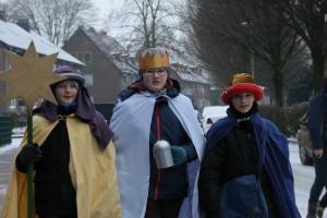 """""""20+C+M+B+17""""- Sternsinger bei Schnee und Kälte unterwegs"""