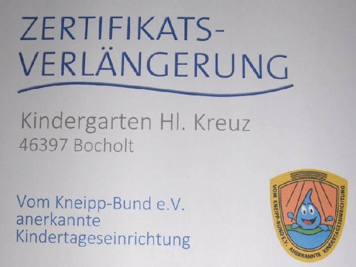Re-Zertifizierung in der Kita Hl. Kreuz