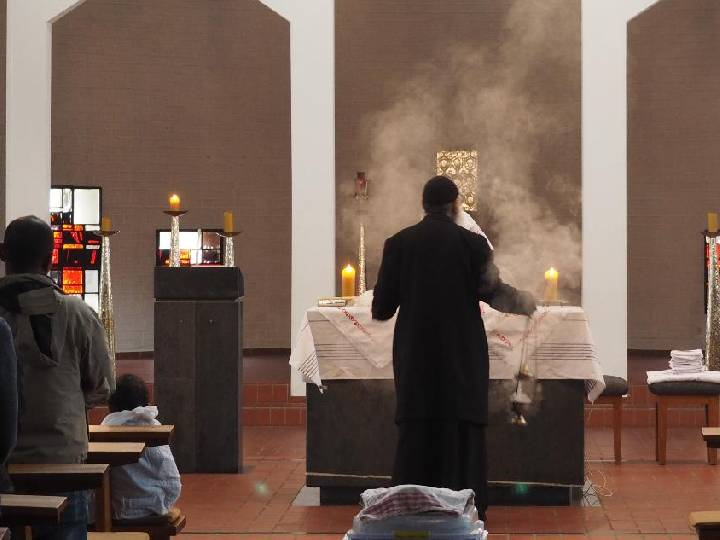 Koptischer Gottesdienst in Herz Jesu