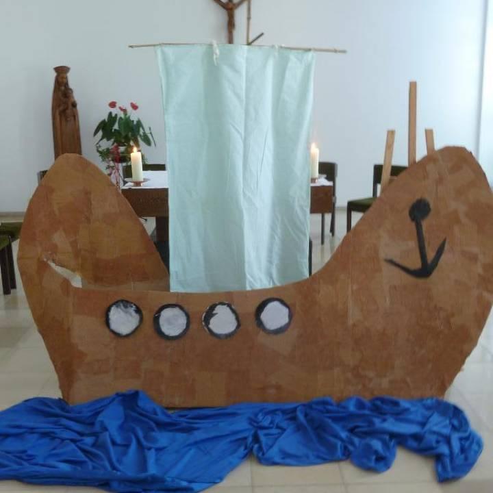 Hl. Kreuz Entlasskinder fühlen sich in Noahs Arche geborgen