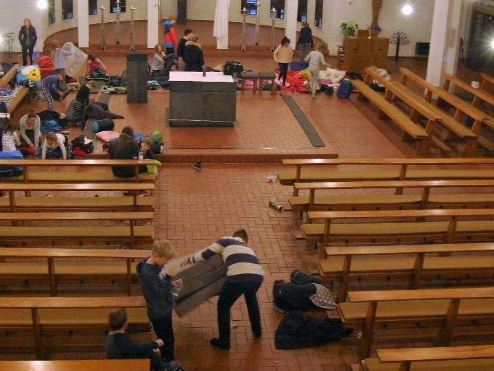 Kirchenübernachtung 2017 in Herz Jesu