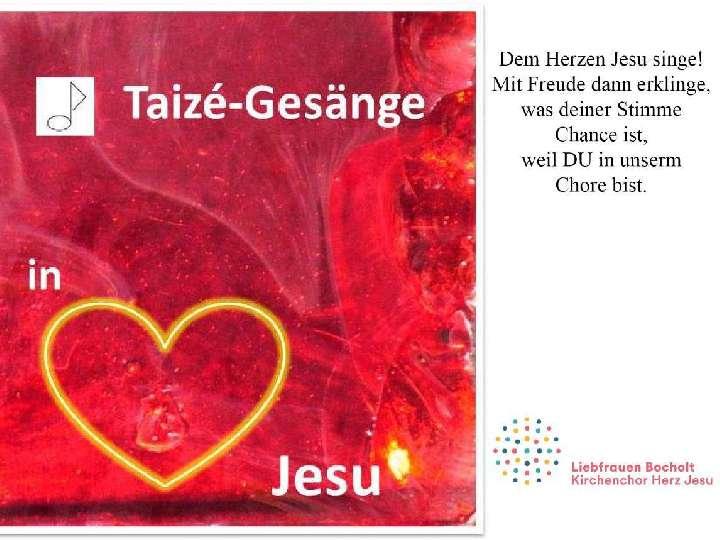 Taizé-Projekt-Chor  – Anmeldungen ab sofort möglich – Der Countdown läuft