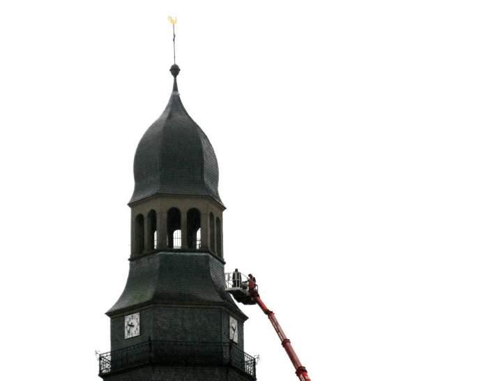 Reparaturarbeiten am Liebfrauenkirchturm