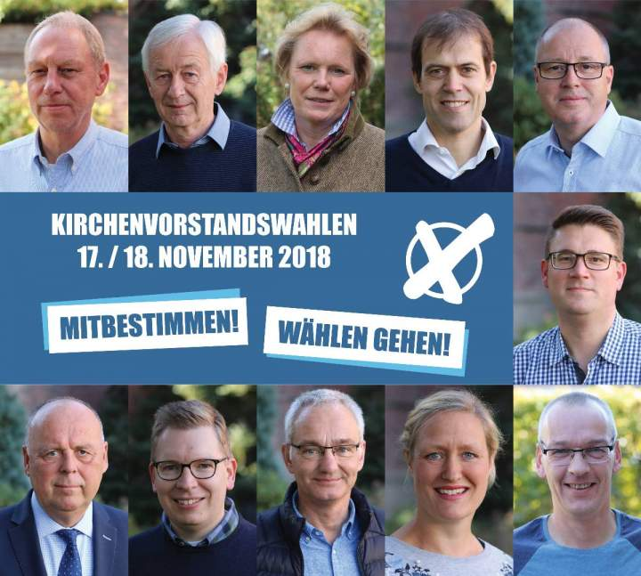 Kirchenvorstandswahlen am 17. und 18. November 2018