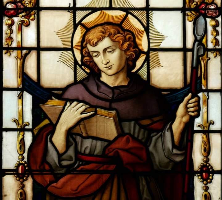 Fensterbild Heiliger Wendelin in der St.-Helena-Kirche in Bocholt-Barlo