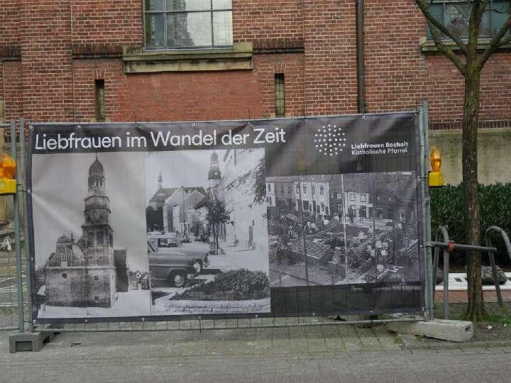 Alte Fotos an den Bauzäunen - Erklärungen