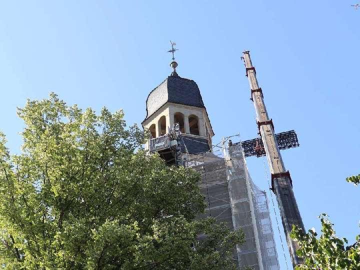 Es geht voran...Sanierung des Kirchturms Liebfrauen