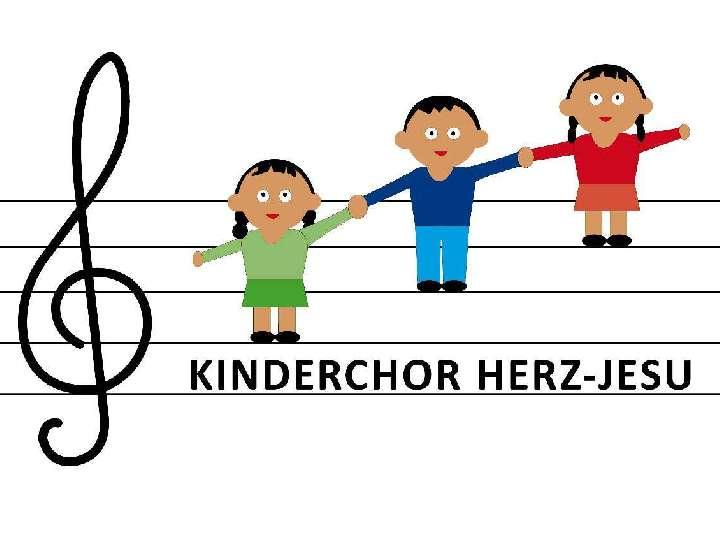 Kinderchor Herz-Jesu probt für den Familiengottesdienst am Samstag in St. Helena