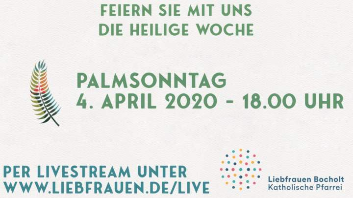 Livestream Palmsonntag