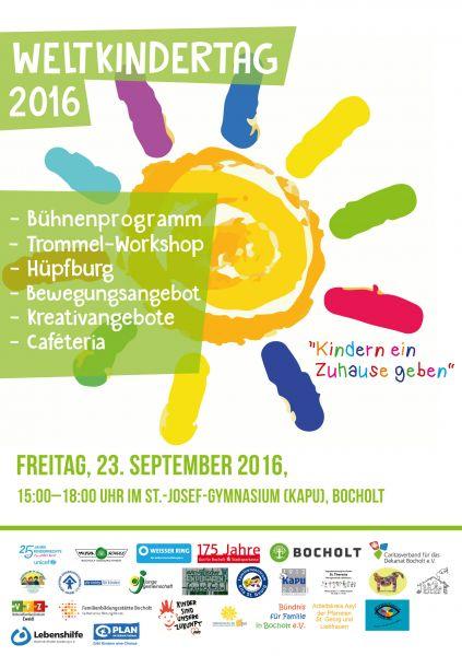 Weltkindertag in Bocholt - Bühnenprogramm am Kapu