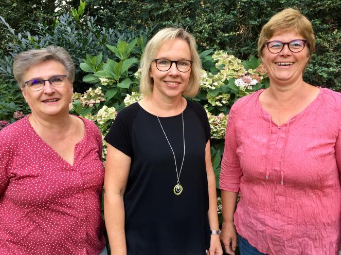 Team Pfarrbüro Liebfrauen: Lena Döing, Büroleitung Helga Giesing, Monika Weigel