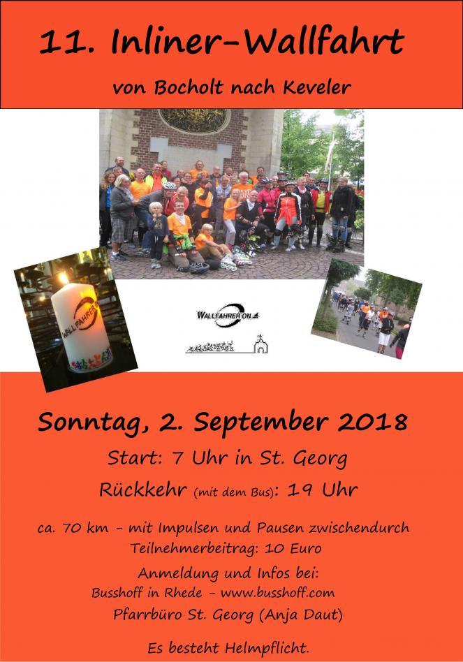 11. Inliner-Wallfahrt von Bocholt nach Kevelaer 2018